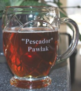 A glass in the shape of one of beer's primary ingredients!